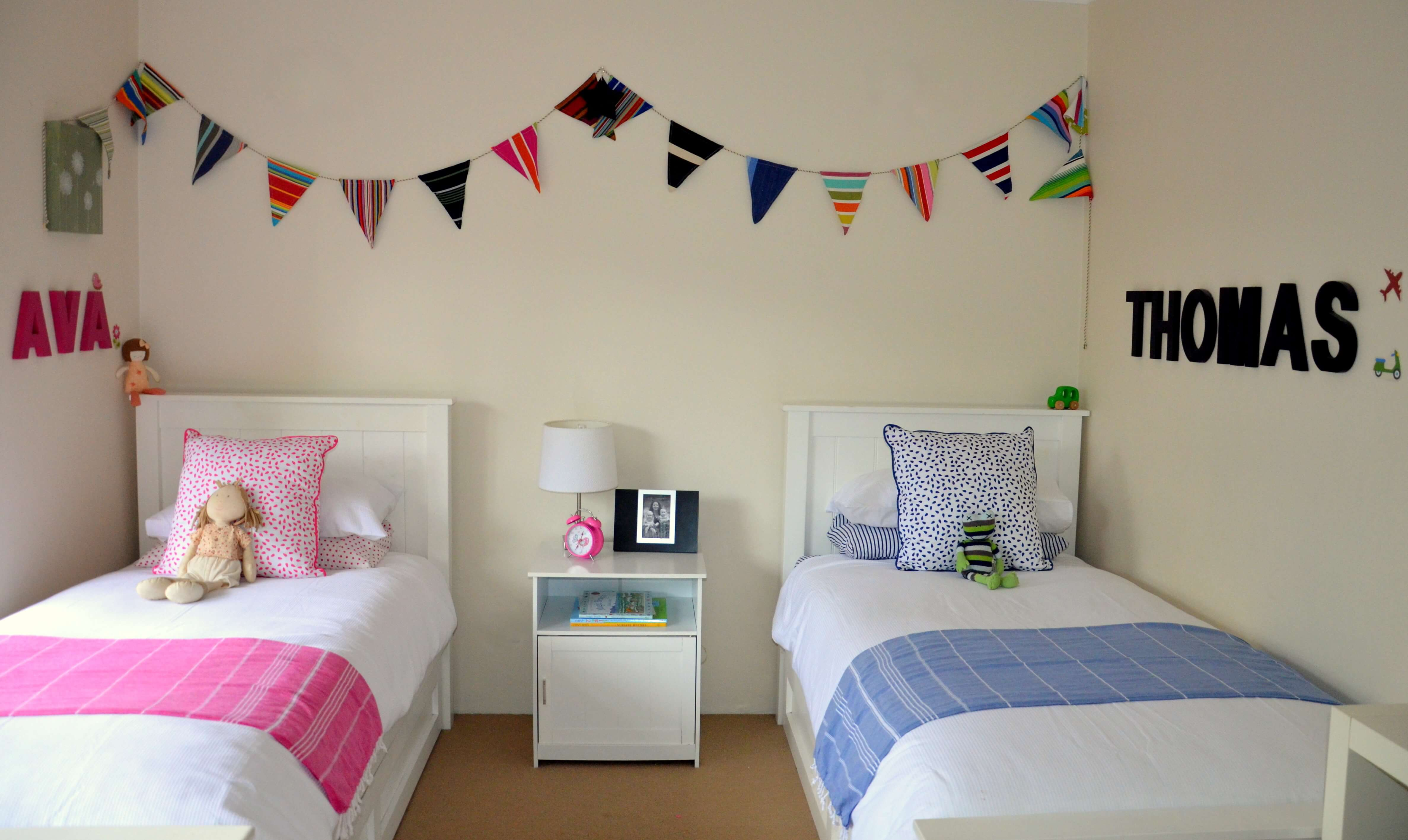 Style a kids 39 shared bedroom stuff mums like for Childrens bedroom ideas boy girl sharing
