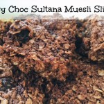 Easy Choc Sultana Muesli Slice