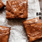 Simple Brownie Recipe with salted caramel sauce