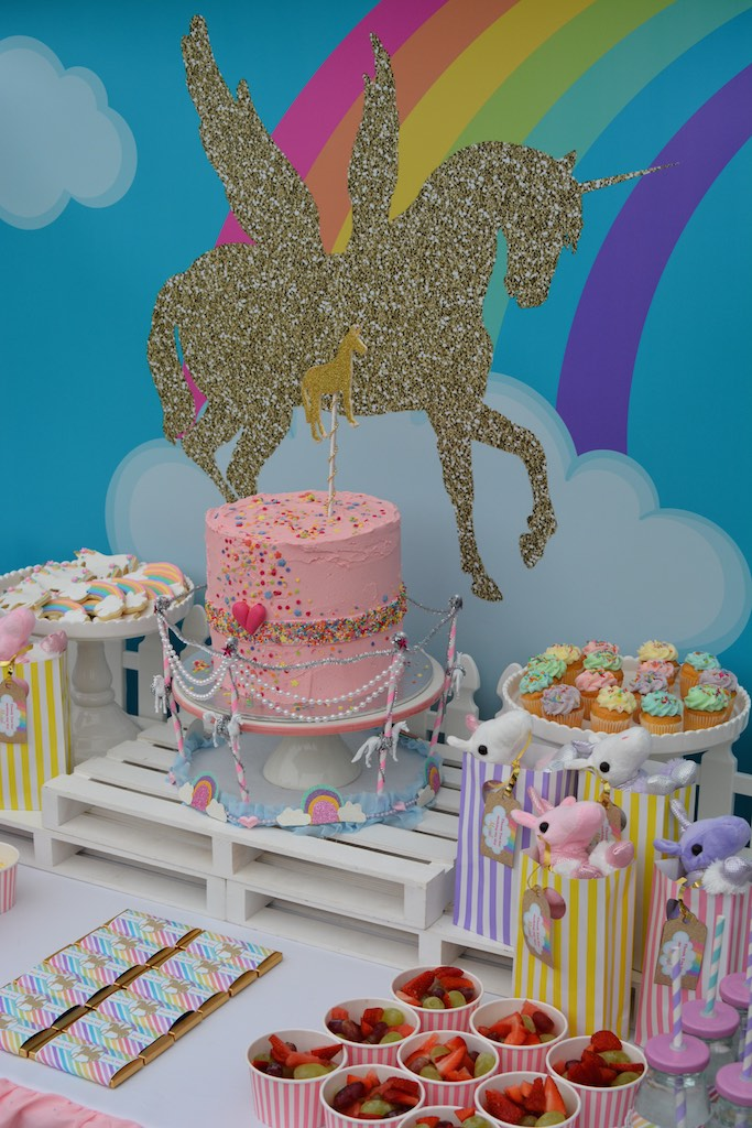 Unicorn Party Ideas Rainbow 3rd Birthday Girls