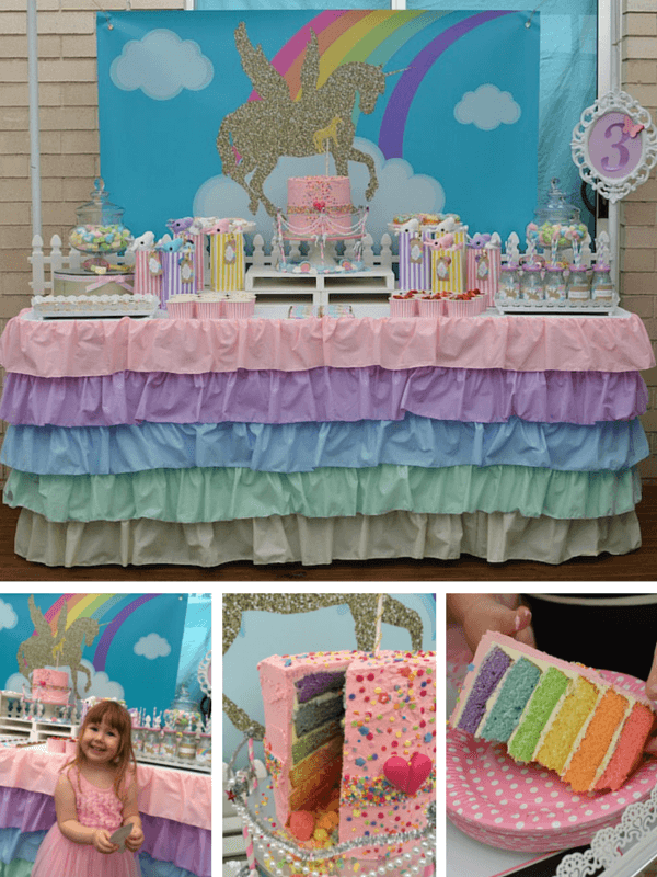 Unicorn party ideas/ rainbow party ideas/ 3rd birthday party ideas/ girls birthday party ideas
