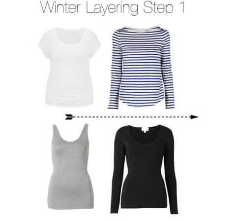 Winter layering step 1