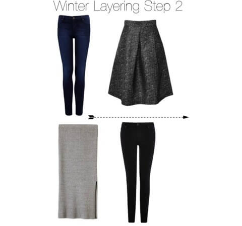 Winter layering step 2