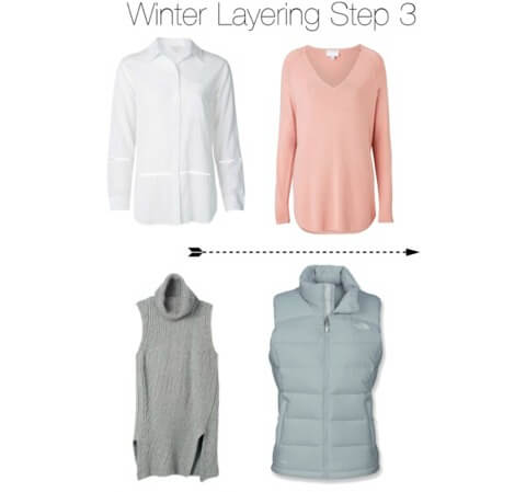 Winter layering step 3