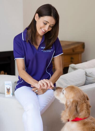 Dr Katrina  Riley with Bravecto chew