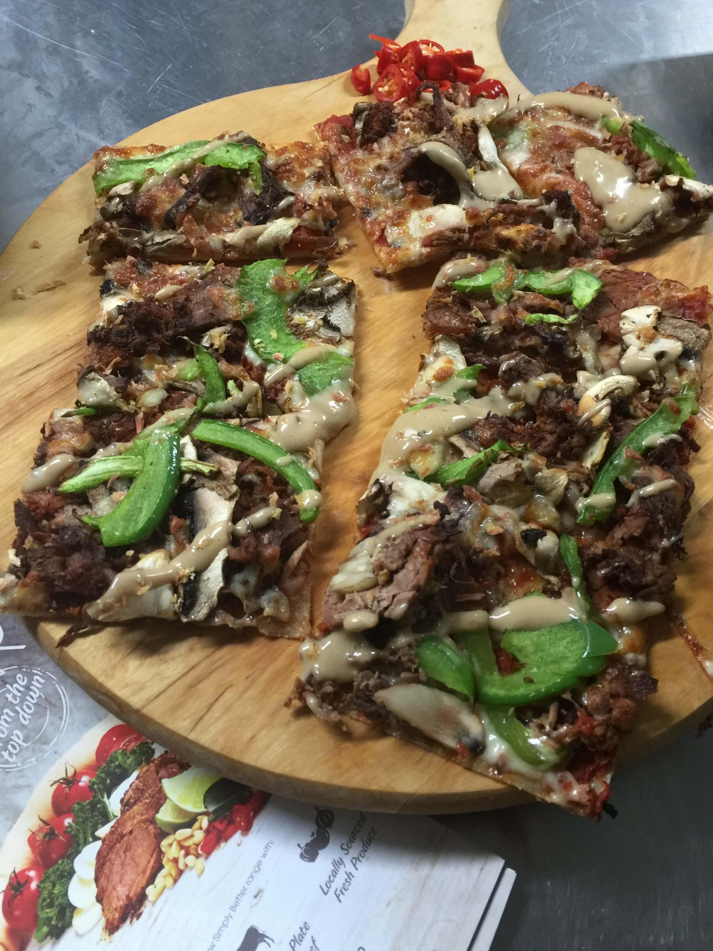 crust pizza wagyu shoga