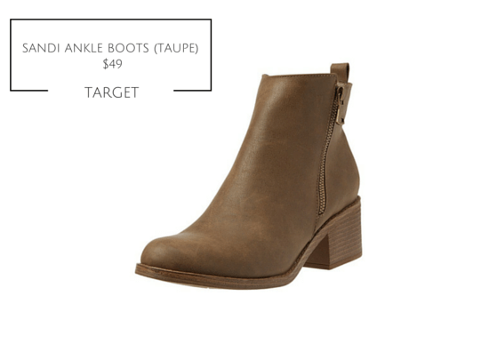 SANDI ANKLE BOOT TAUPE TARGET