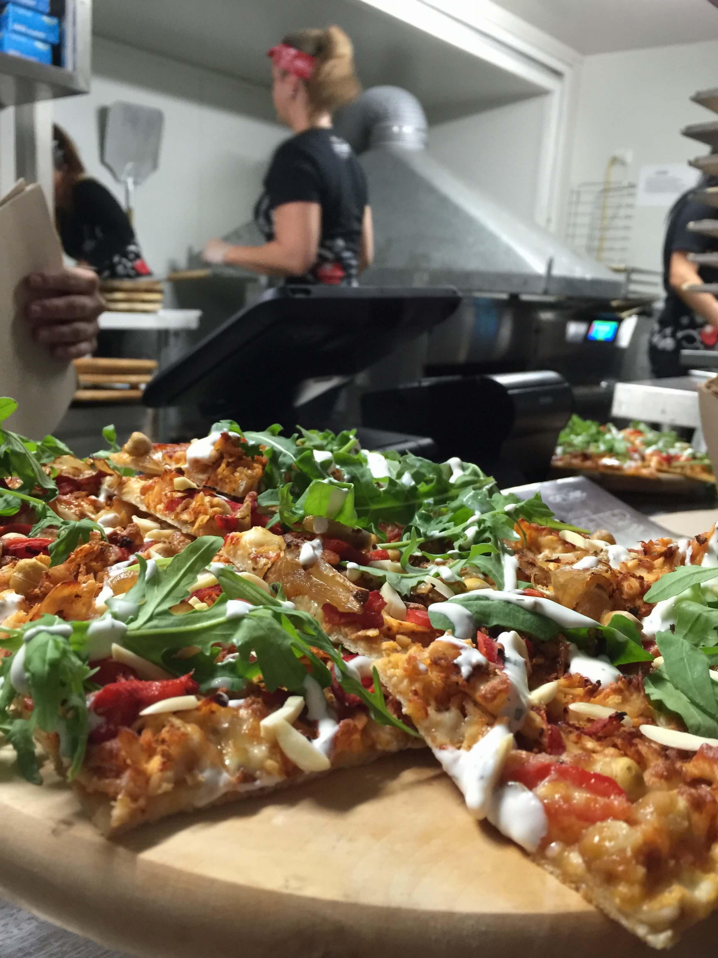 Crust Pizza Harissa Hommus Chicken