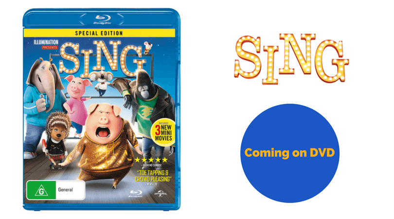 SING Coming on DVD