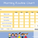 Kids morning routine checklist- with FREE printable