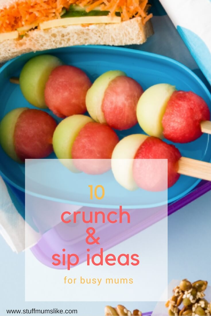 crunch and sip ideas