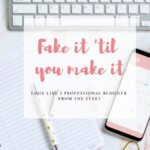 Fake it til you make it: look like a professional blogger from the start