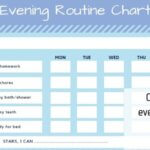 Kids' evening routine checklist – with FREE Printable