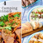 4 easy Camping Dinners that can be cooked on the BBQ