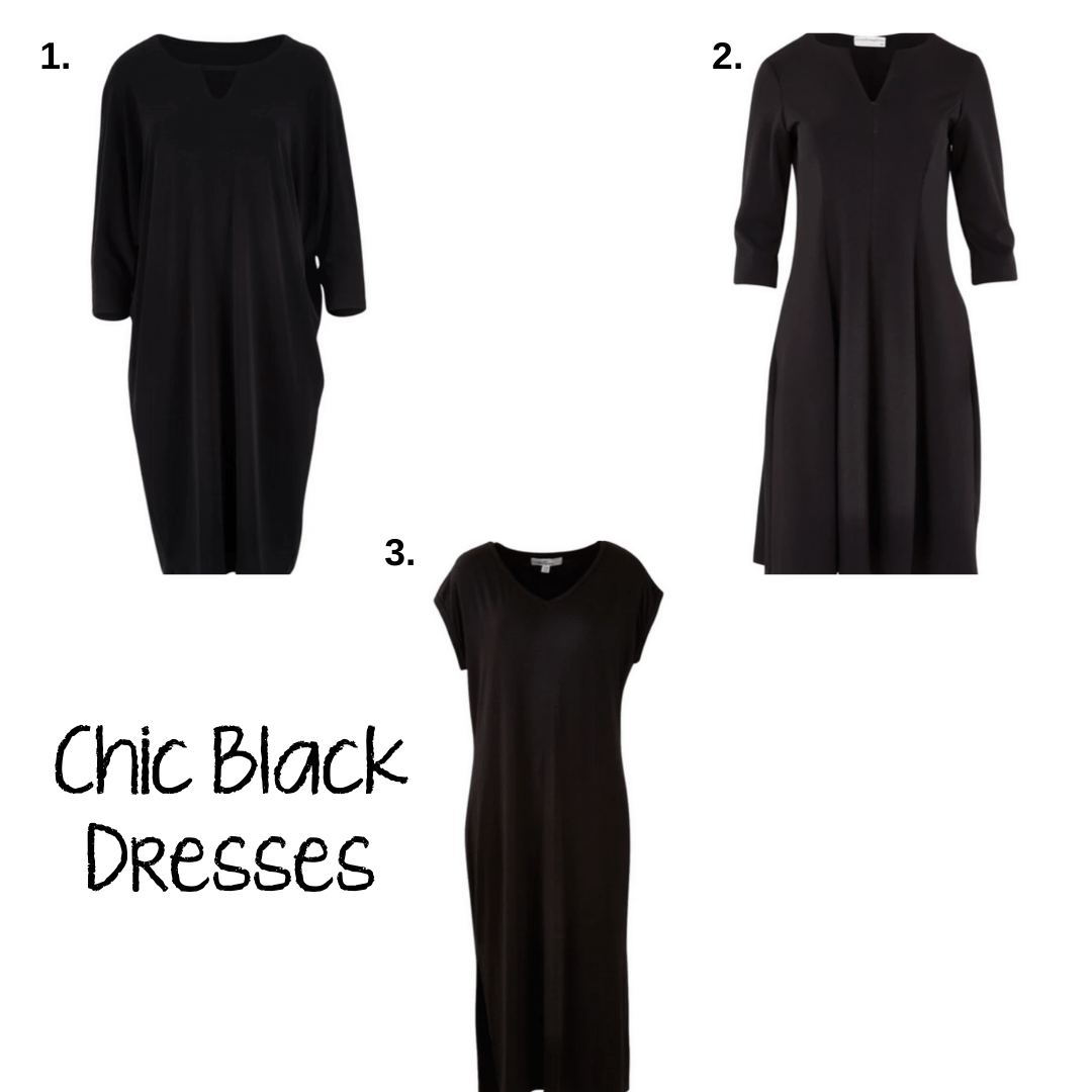 flattering work dresses - black dresses