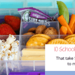 10 fast school lunches – make lunch in five minutes!
