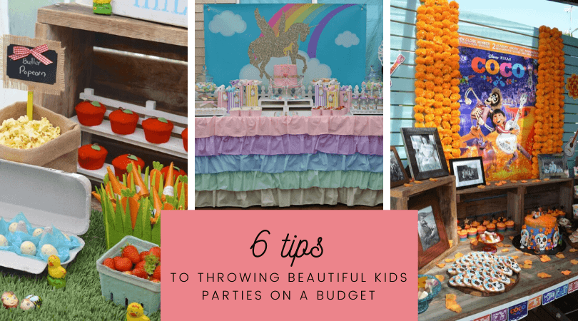 kids parties on a budget