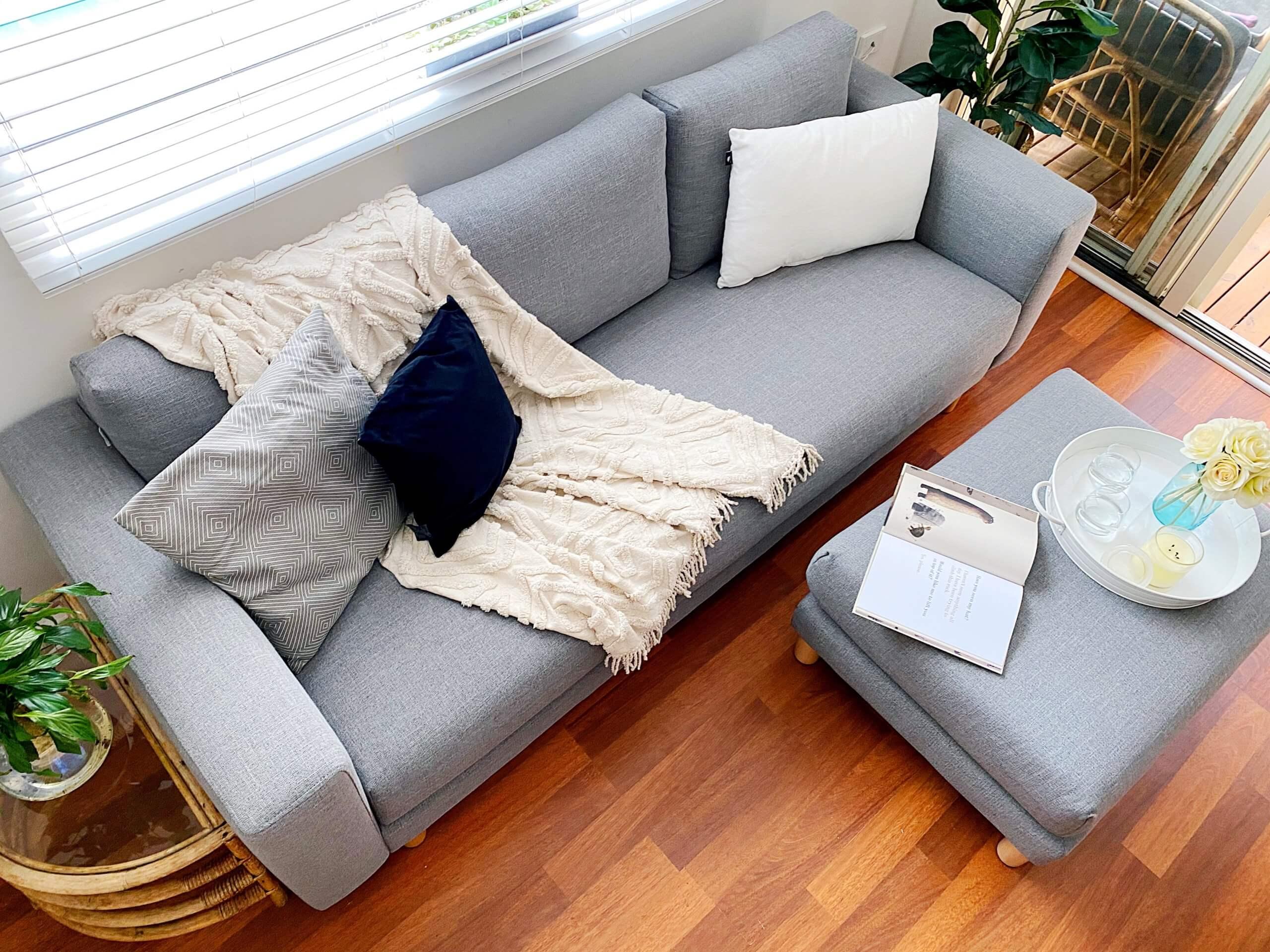 Styling a grey sofa