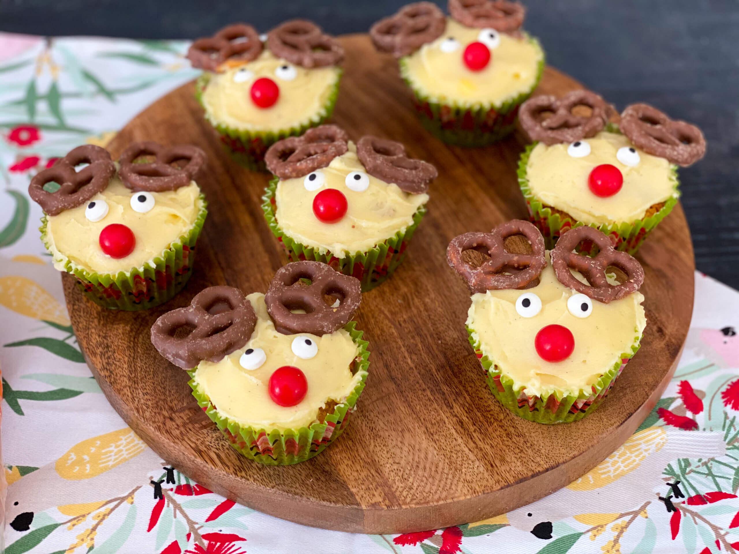 Reindeer carrot cupcakes