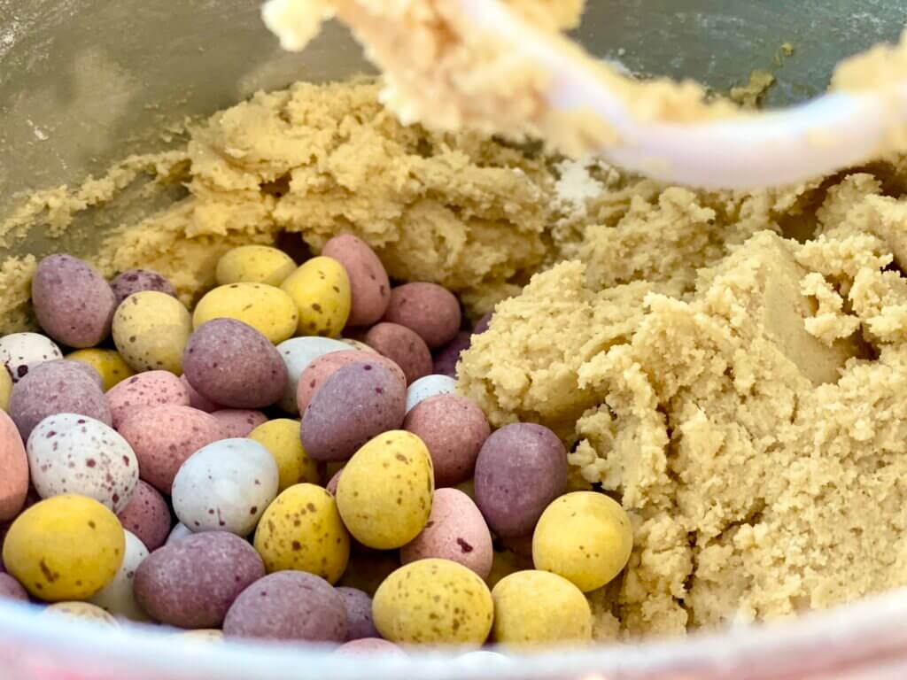 The Best Ever Easter Mini Egg Cookies